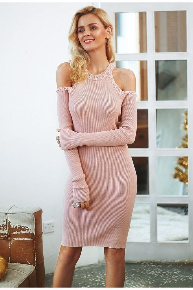 6964668d724b Women O Neck Off Shoulder Slim Winter Wear Above Knee Mini Bodycon Sweater  Dress  fashion  clothing  shoes  accessories  womensclothing  dresses (ebay  link)