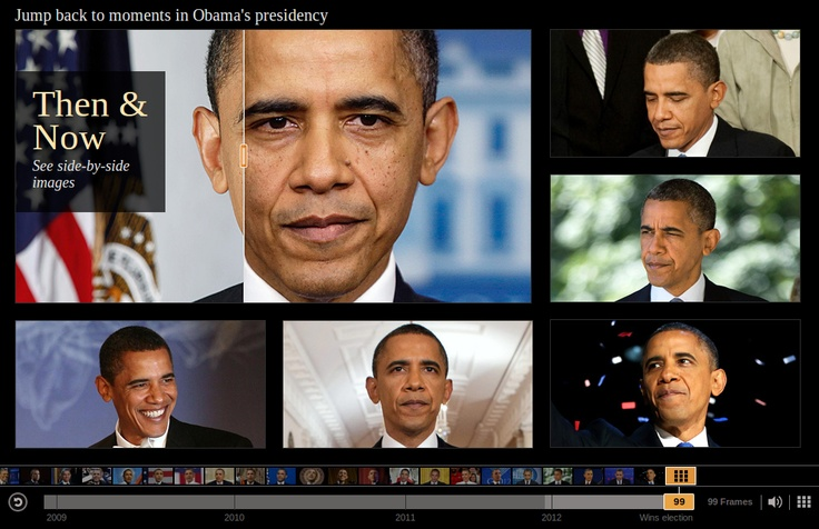 17.01.13: The Age of Obama: Timelapse of President Barack Obama over four years in office.