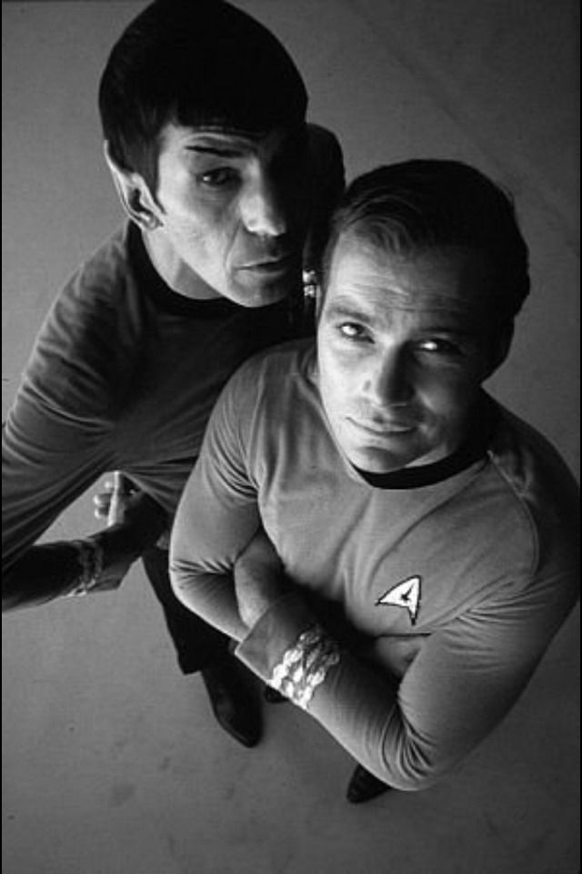 Leonard Nimoy as Spock and William Shatner as James T. Kirk in 'Star Trek'