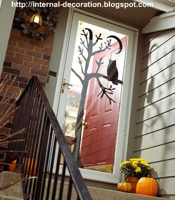 cute halloween door decoration - Homemade Halloween Door Decorations