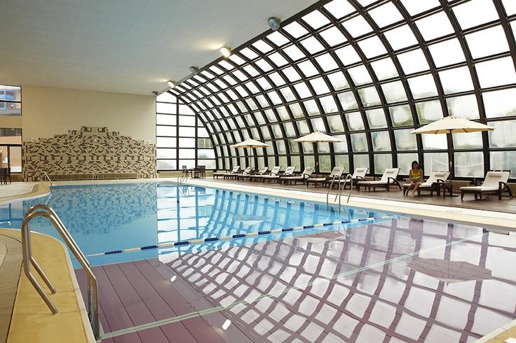 indoor pool - Club Med Sahoro..aqua aerobics work wonders after a day skiing.