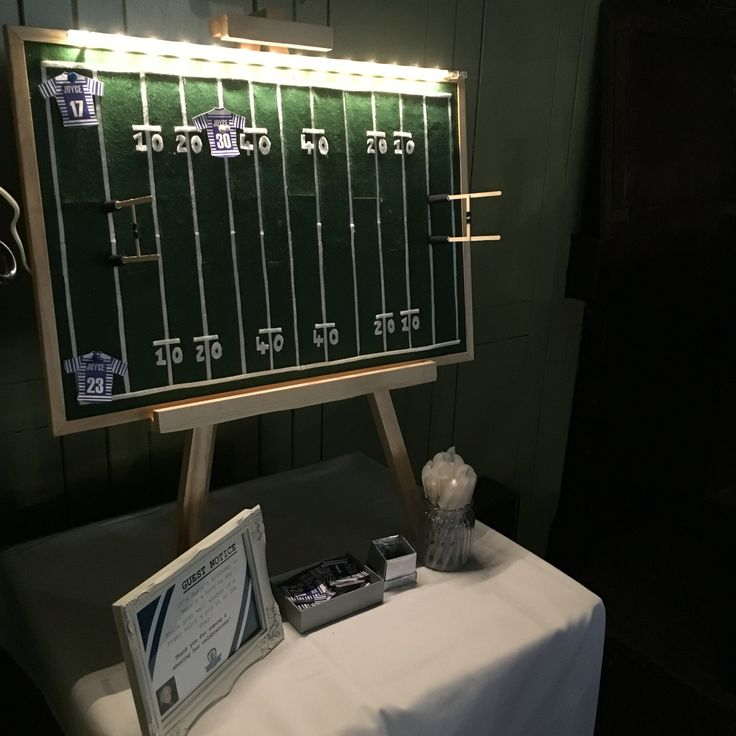 2016.04 Mini Rugby Pitch Guest book Notice Board - Joyce's 80th