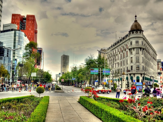 Reforma Avenue Glorieta de Colon Mexico City: Architecture Reforma, Mexico, Blondes 20Th, 1900S Architecture, Avenue Glorieta, Architecture French, 1900 1900 1909, Blondes History, History 1900 1909