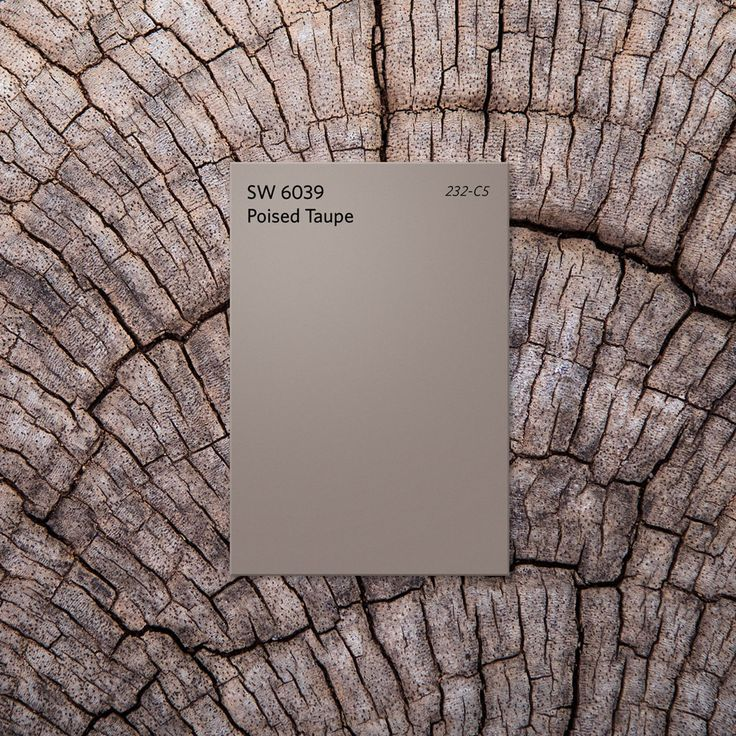 Effortlessly balancing earthen brown and conservative gray, Poised Taupe SW 6039 is a timeless neutral that pairs well with both modern and classic looks. No wonder we chose it as our 2017 Color of the Year.