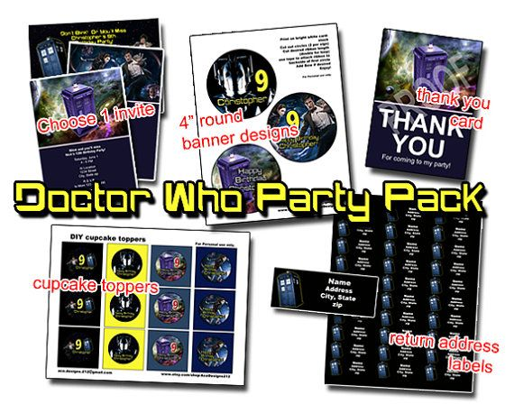 The 9 best images about Birthday Invitations – Doctor Who Party Invitations