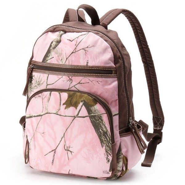 Realtree Camo Backpack, Pink (€29) ❤ liked on Polyvore featuring bags, backpacks, pink, camo print backpack, camo backpack, camouflage backpack, pink backpack and day pack backpack