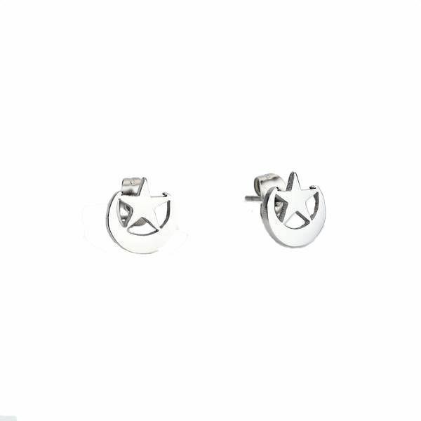 Schattige oorbellen met een maan en ster #ohsohip