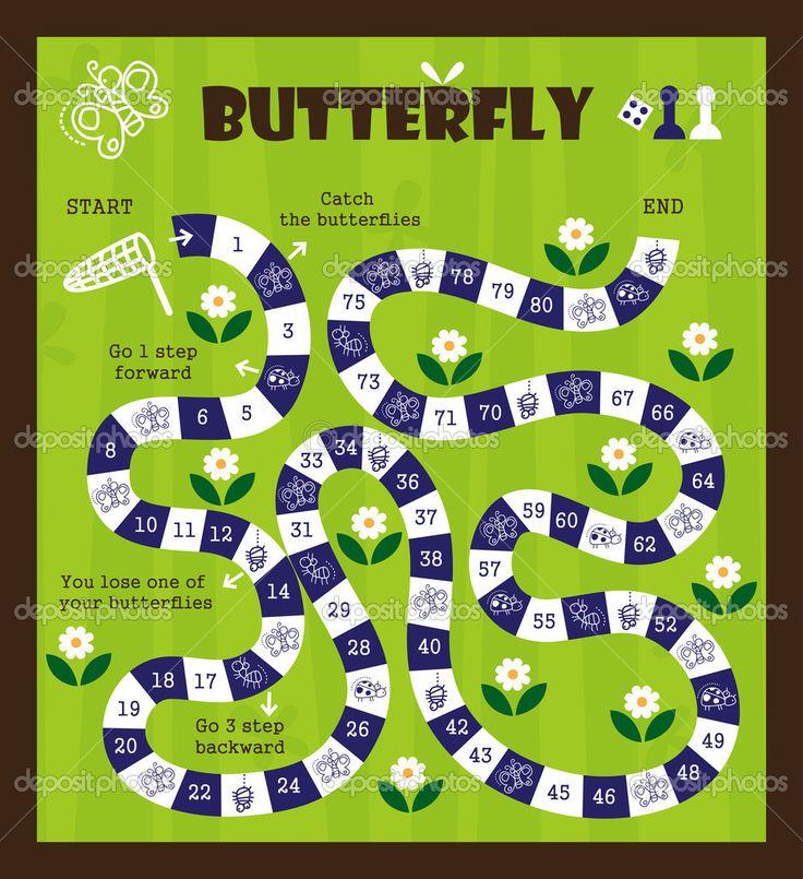 Gra planszowa dla dzieci — Ilustracja stockowa #43803815