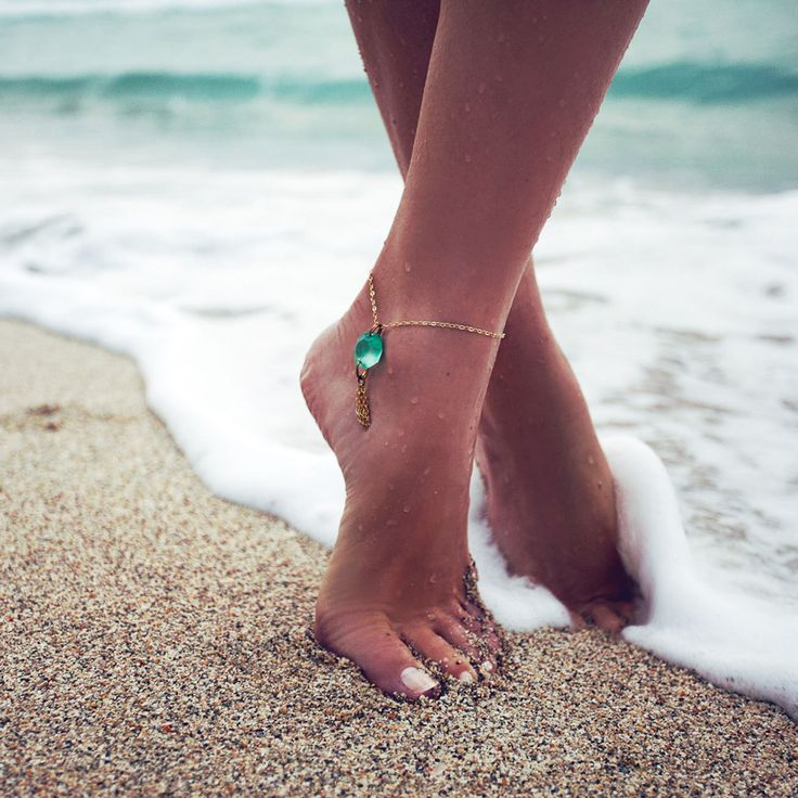 Anklet Aqua by Bohobo Collective