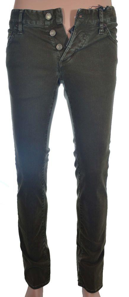DSQUARED2 Mens Slim Jean Size 28 US / 44 Italy in Olive Green NWT $460.00 #TrueReligion #SlimSkinny
