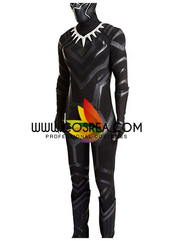 Marvel Avengers Civil War Black Panther Complete Cosplay Costume