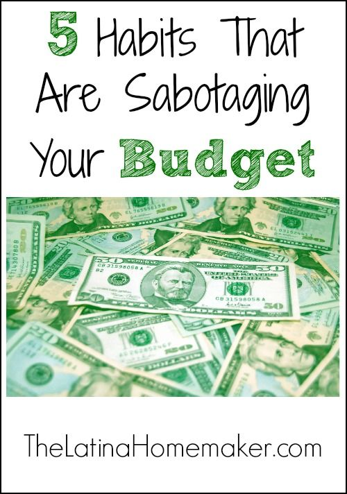 Wondering why you're not able to stay within your budget each month? Perhaps one of the following 5 habits is sabotaging your budget.