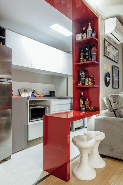 Apartamento de 44 m² perfeito para receber os amigos e relaxar