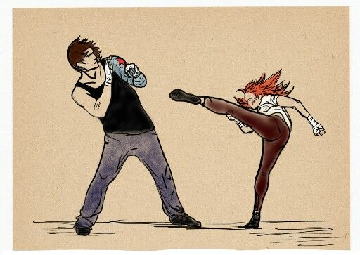 Winter Soldier training the Black Widow. This part of their story in the comics has always intrigued me.