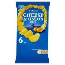 Tesco Cheese And Onion Crisps 6X25g