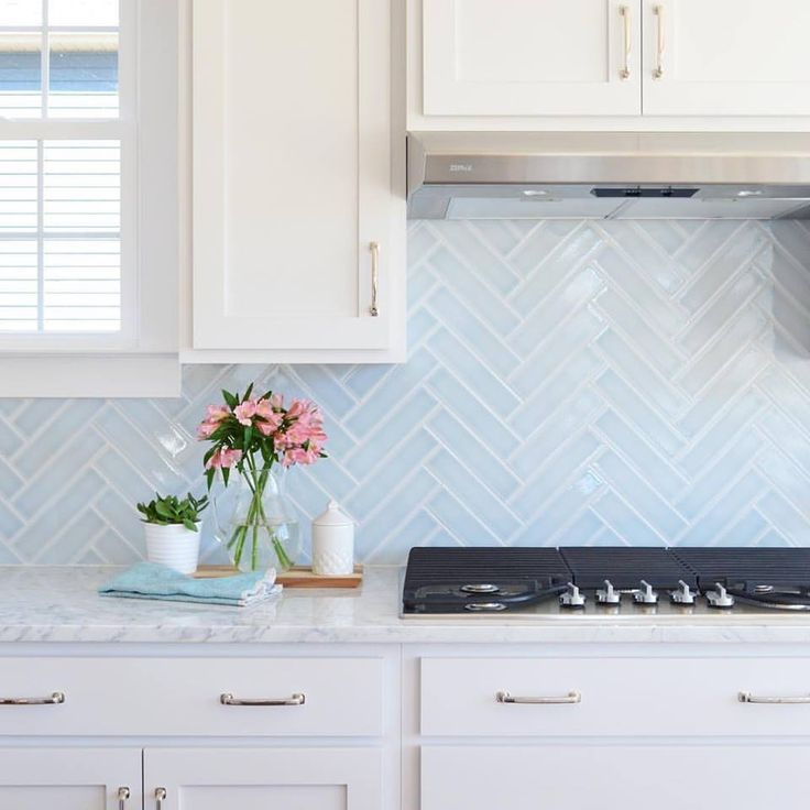 White Kitchen Herringbone Backsplash best 20+ blue backsplash ideas on pinterest | blue kitchen tiles