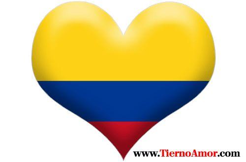 Corazón De La Bandera De Colombia Etiquetas Redondas Pictures to ...