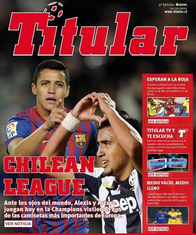 Alexis y Vidal en la Champion League.