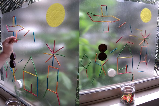 Sticky Window Art--This fun art project has endless possibilities. Kids will be happy to stick with it for a while!: Crafts For Kids, Sticky Window, Arts Crafts, Fun Art Projects, Sticky Art, Kids Crafts Projects, Sticky Final, Window Art, Arts & Crafts