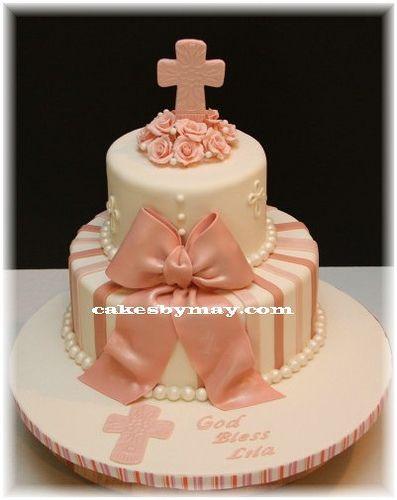 Baptism Cake for Girl by Cakes by Maylene, via Flickr