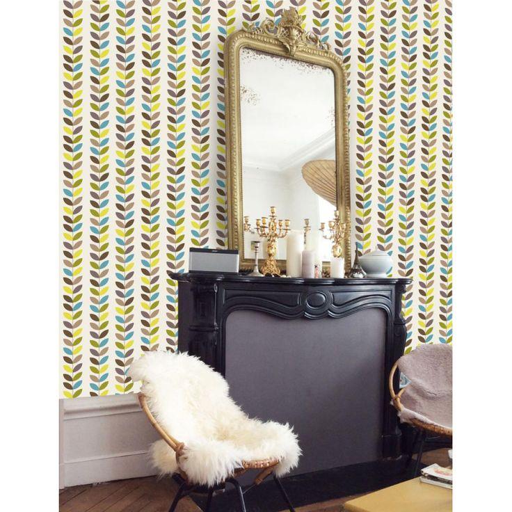 On craque pour ce joli papier peint lé JADE hyper tendance ! 👍 NOUVEAU ! Retrouvez ce papier peint design sur notre nouveau shop en ligne dédié au DIY et à la décoration murale >>> http://shop.eclatdeverre.com/fr/piece-a-vivre/1164-papier-peint-le-jade.html Ambiance cocooning pour cette déco d'intérieur agrémentée d'un joli miroir ancien 😊 #papierpeint #wallpaper #inspiration #homedecor #new #graphicdesign #homesweethome #interior #interiordesign #cocooning #salon #miroir