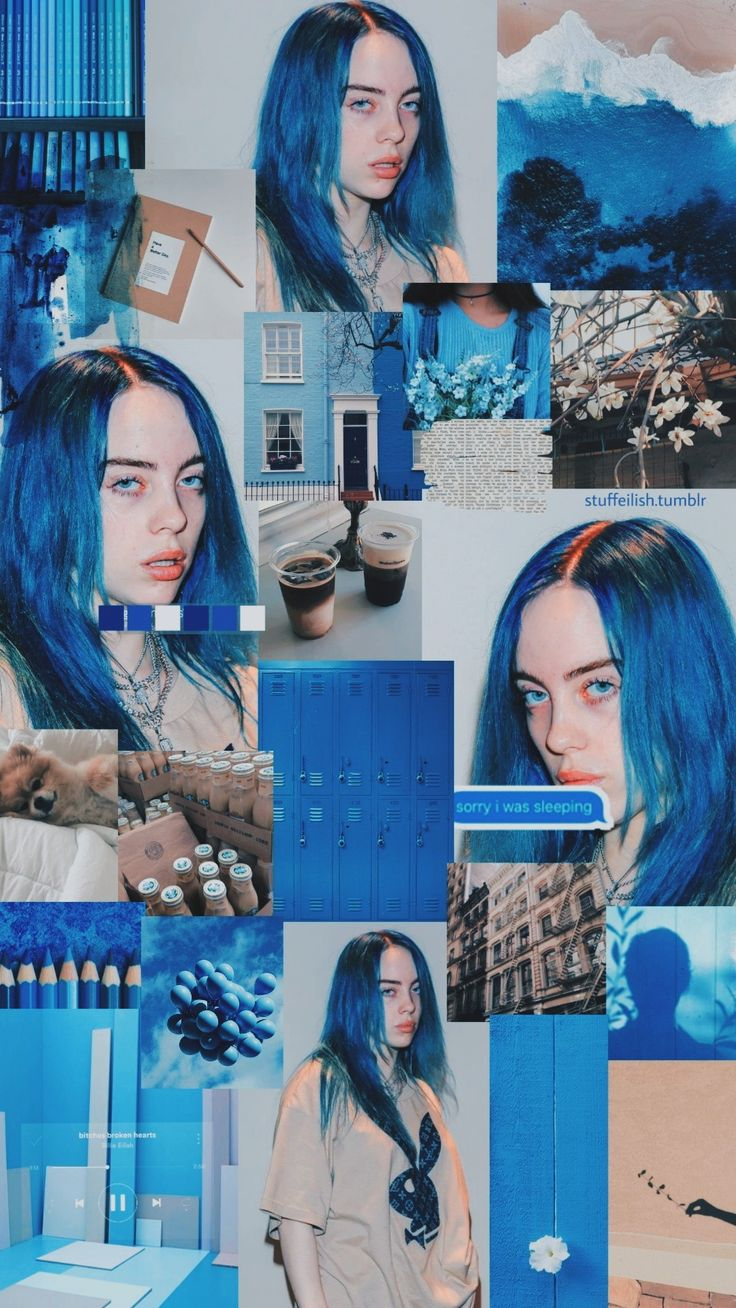 Billie Eilish Wallpaper Blue Hair #wallpaper #coolphonewallpapers #androidwallpaper #iphonewallpaper #billieeilish #piratebaird #billieeilishwallpaper