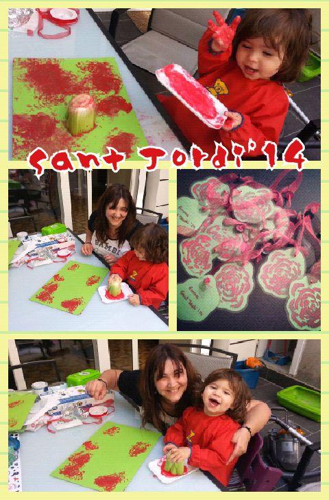 Creació de les Roses punt de llibre .Sant Jordi'14