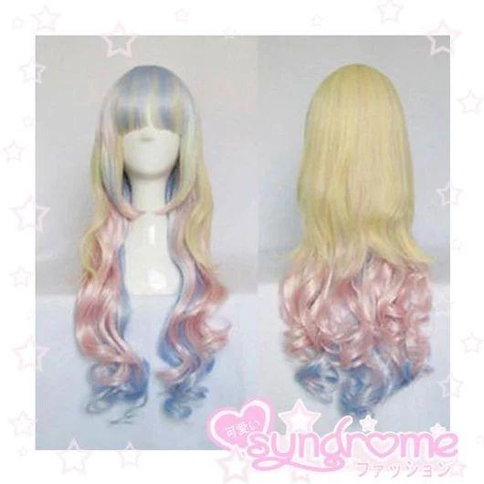 Dolly Rainbow Pastel Wig SD00075