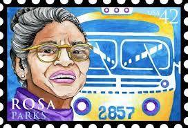 Rosa Parks  Rosa Parkt (1913-2005) weigerde op 1 december 1955 in een bus in Montgomery (alabama) haar stoel af te staan aan een blanke reiziger en achterin te gaan zitten. Haar kleine maar dappere daad van verzet had grote gevolgen voor de burgerrechtenbeweging in Amerika....  #idolenkaarten