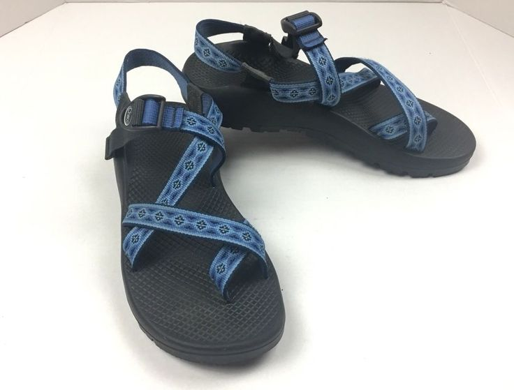 Chaco Womens W10 Sandals VIBRAM Blue Chacos Waterproof Shoes Non-Marking. Hiking  | eBay