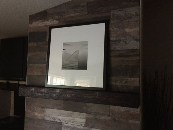 Fireplace Mantel. Rugged Wood Mantel.Floating By CCDonerDecor
