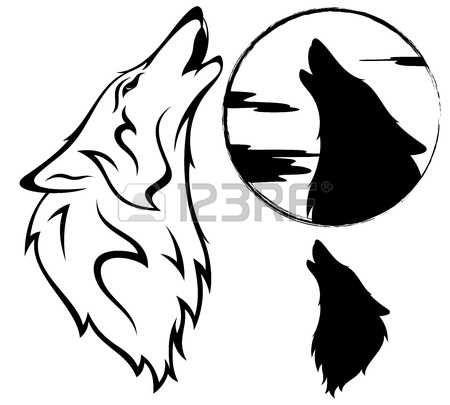 wolf head: вой волка векторные иллюстрации