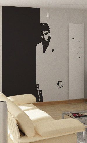 Scarface  uBer Decals Wall Decal Vinyl Decor Art by UberDecals