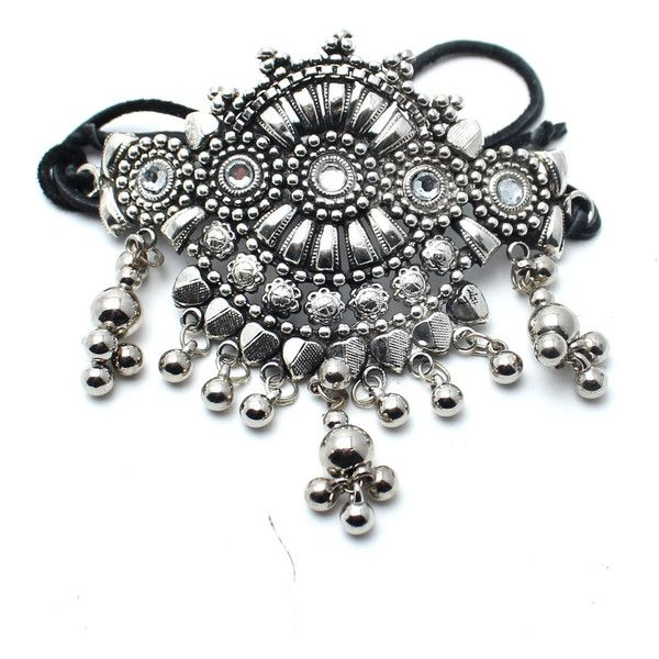 Shiva's Dance Armband (8.375 HUF) found on Polyvore featuring women's fashion, jewelry, silver, armband jewelry, indian jewelry, indian jewellery, child of wild jewelry and rhinestone jewelry