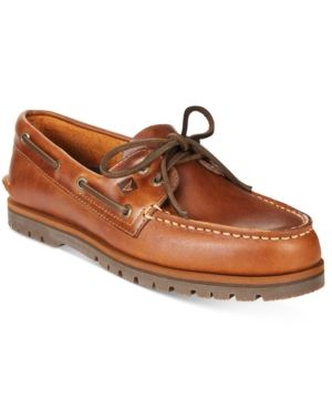 Sperry Men's A/O Mini Lug Boat Shoes - Tan/Beige 11.5