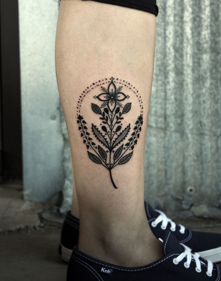 flowerpattern by David Hale #tattoo
