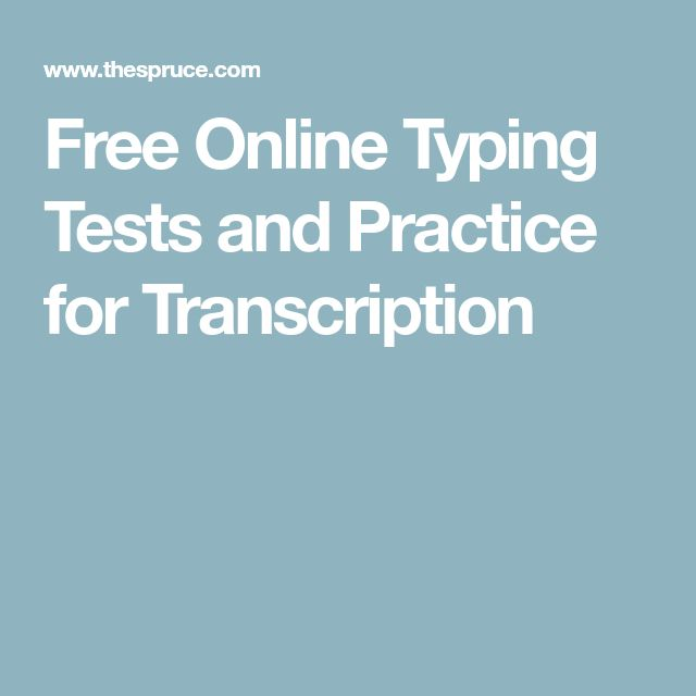 Free Online Typing Tests and Practice for Transcription