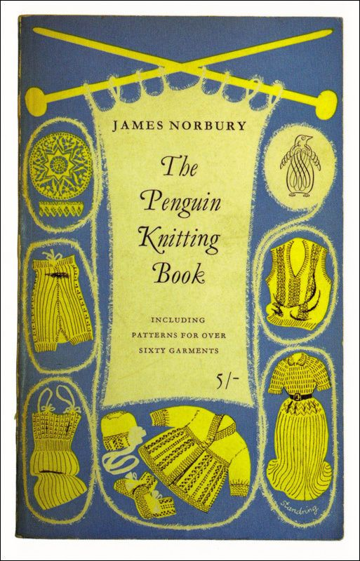 Postcard Penguin Book Cover - The Penguin Knitting Book - J. Norbury - POSTCARD