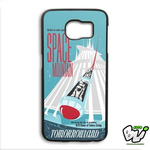 Poster Space Mountain Samsung Galaxy S6 Edge Case