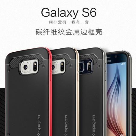 Южная Корея SPIGEN S6 ПМГ Samsung Телефон случай Галактика S6 Форсаж 6 металлических границе сотовый телефон защитный чехол  — 2754.66 руб. —