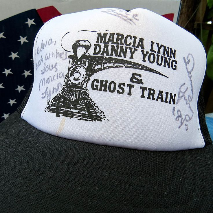 1984 AUTOGRAPHED Marcia Lynn Danny Young & Ghost Train Band Mesh Snapback Hat #Yupoong #Trucker