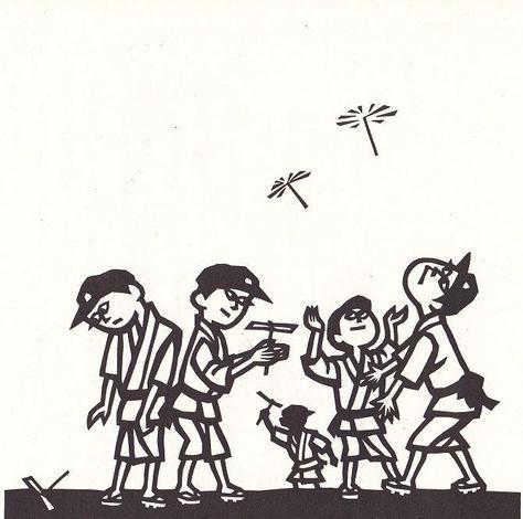 手工の時間に 竹とんぼ/Time of Taketombo by Jiro Takidaira || Taketombo is a bamboo toy helicopter rotor, also known as the bamboo dragonfly or Chinese top