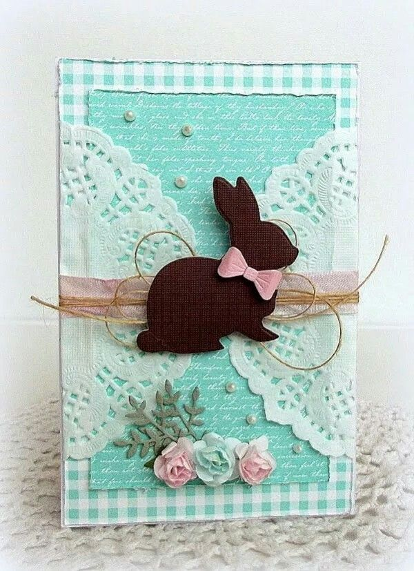 Can replace the bunny with a heart, circle or square with the sentiment on it. replace raffia with ribbon.