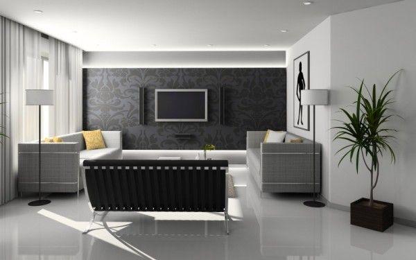 Черные обои в интерьере | Ремонт квартиры своими руками