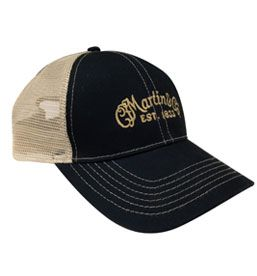 Navy And Tan Mesh Baseball Style Hat With C F Martin Logo