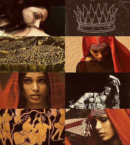 Greek Mythology Dreamcast - Freida Pinto as Ariadne …Dionysos showed himself on the island, and because of the beauty of Ariadne he took the maiden away from Theseus and kept her as his lawful wife, loving her exceedingly. Indeed, after her death he considered her worthy of immortal honours because of the affection he had for her, and placed among the stars of heaven the Crown of Ariadne. (x)