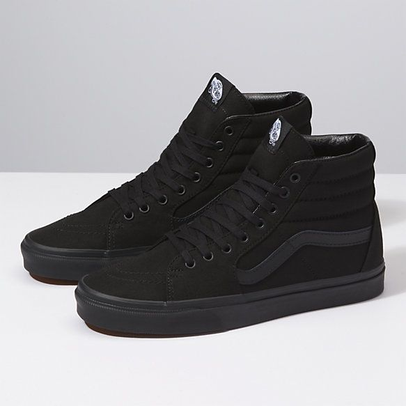 Canvas Sk8 Hi Shop Shoes Black Vans Vans Shoes High Tops