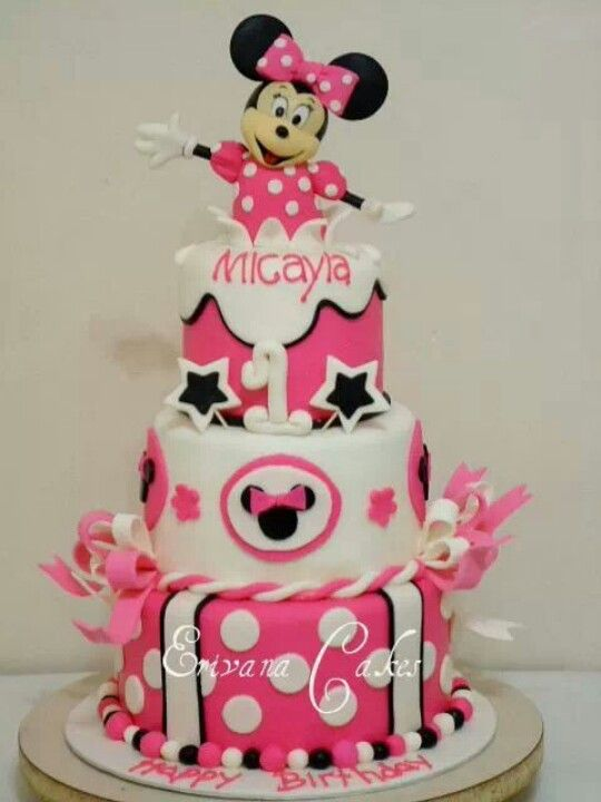 17 best Minnie Mouse Cake images on Pinterest Mini mouse cake