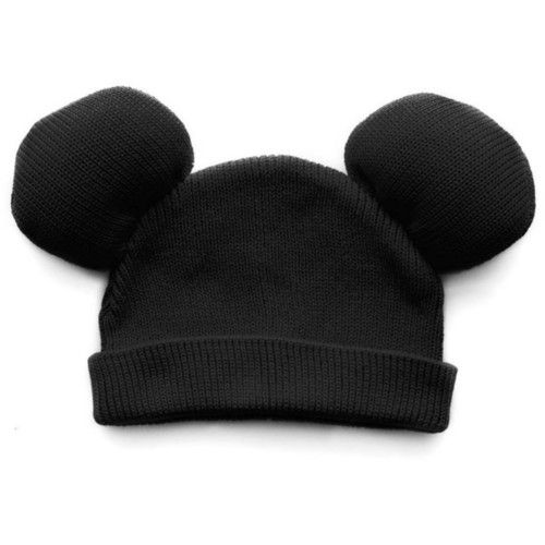 Mickey Mouse inspired beanie.  Just  add two ears with a little stuffing to a regular black beanie.   Maybe a bow for Minnie? :)