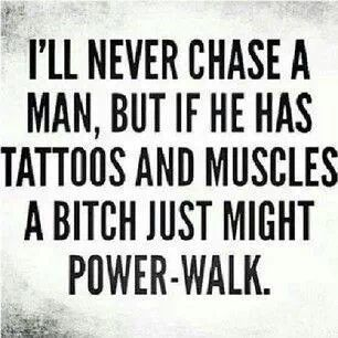 tattoos and muscles
